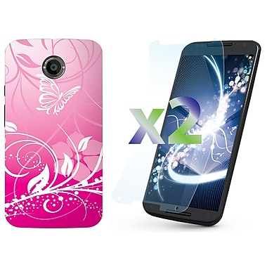 Exian Cases for Moto X2, Butterflies & Flowers