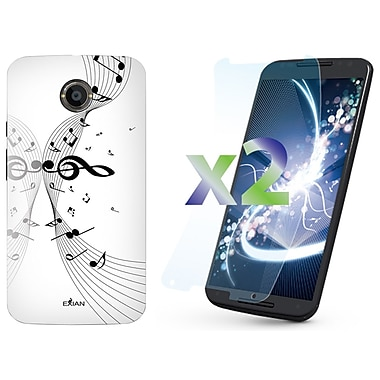 Exian Case for Moto X2, Musical Notes White