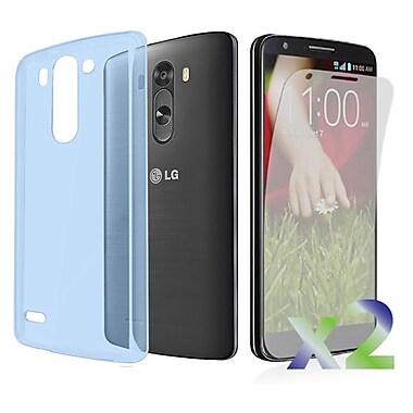 Exian – Étui pour LG G3, bleu transparent
