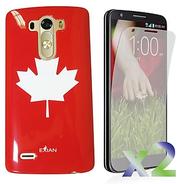 Exian – Étui avec feuille d'érable pour LG G3
