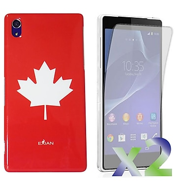 Exian Case for Xperia Z2, Maple Leaf