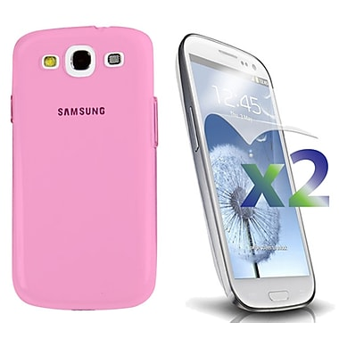 Exian – Étui pour Galaxy S3, rose transparent