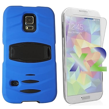 Exian Case for Galaxy S5, Armored with Stand Blue