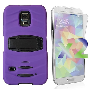 Exian Case for Galaxy S5, Armored with Stand Purple