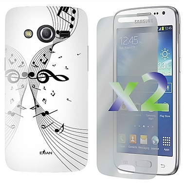Exian Case for Galaxy Core LTE, Musical Notes White