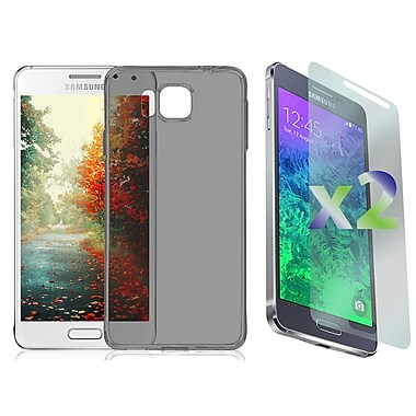 Exian Case for Galaxy Alpha, Transparent Grey