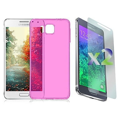 Exian Case for Galaxy Alpha, Transparent Hot Pink