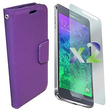 Exian – Étui portefeuille en cuir pour Galaxy Alpha, violet