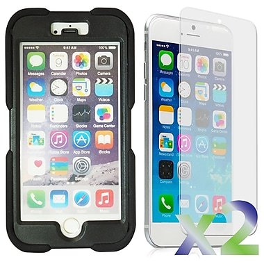 Exian Case for iPhone 6, Armored with Stand Black