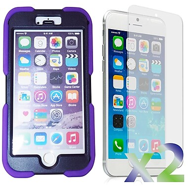 Exian Case for iPhone 6, Armored with Stand Purple