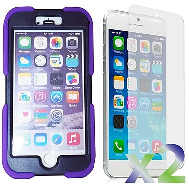 Exian Case for iPhone 6 Plus, Armored with Stand Purple