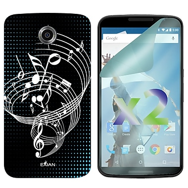 Exian Case for Nexus 6, Musical Notes Black