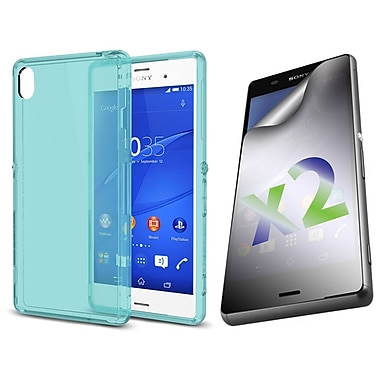 Exian Case for Xperia Z3, Transparent Blue