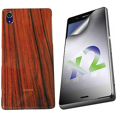Exian Case for Xperia Z3, Wood Grain Pattern