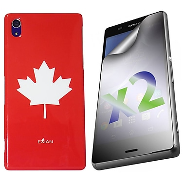 Exian Case for Xperia Z3, Maple Leaf