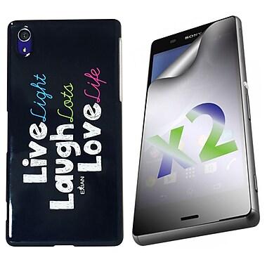 Exian – Étui « Live, Laugh, Love » pour Xperia Z3