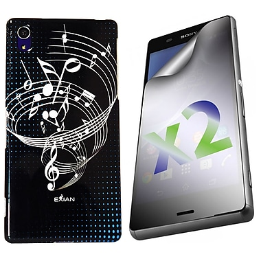 Exian Case for Xperia Z3, Musical Notes Black