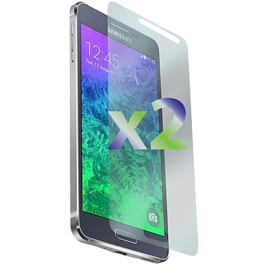 Exian Galaxy Alpha Screen Protector, 2 Pieces, Anti Glare