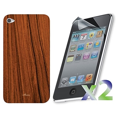 Exian IPod Touch 4 Case, Wood