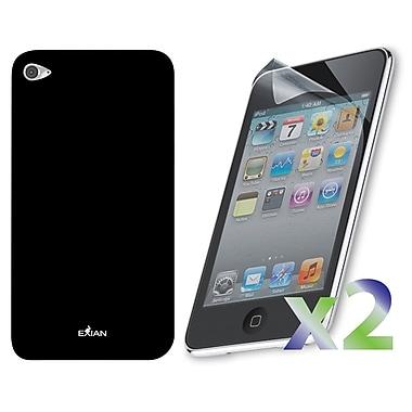 Exian iPod Touch 4 Case, Plain Black