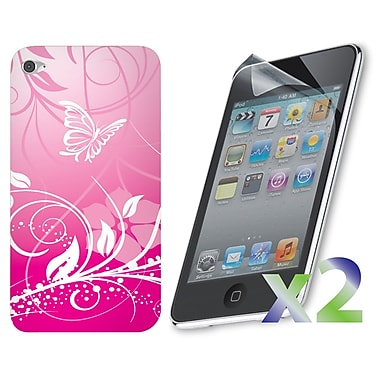 Exian iPod Touch 4 Case, Pink Butterfly
