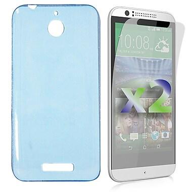 Exian Case for Desire 510, Transparent Blue