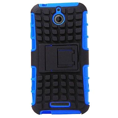 Exian – Étui protecteur avec support pliable pour Desire 510, bleu