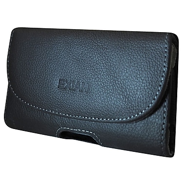Exian Real Leather Pouch with Belt Clip, Large
