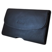 Exian – Pochette en cuir véritable avec pince à ceinture