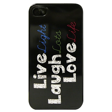 Exian – Étui pour iPhone 4, motif « Live Laugh Love »