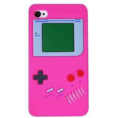 Exian iPhone 4/4s Case, Gameboy Shape Pink