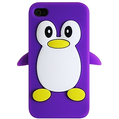 Exian iPhone 4/4s Case, Penguin Purple