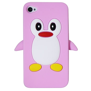 Exian iPhone 4/4s Case, Penguin Pink