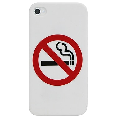 Exian iPhone 4/4s Case, No Smoking White