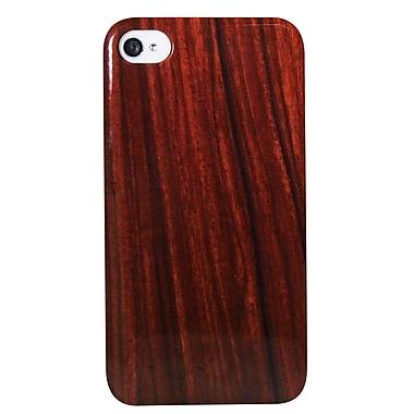 Exian – Étui avec bois dessiné pour iPhone 4