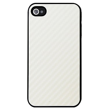 Exian Case for iPhone 4, Carbon Fiber White