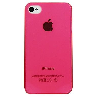 Exian – Étui rose transparent pour iPhone 4