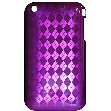 Exian iPhone 3G 3Gs Case, Purple with Diamonds