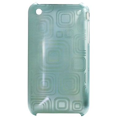 Exian iPhone 3G 3Gs Case, Blue with Squares