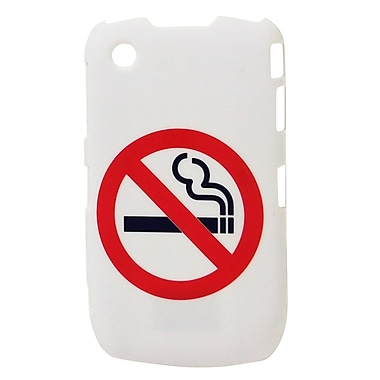 Exian Case for Blackberry Curve 8520, No Smoking White
