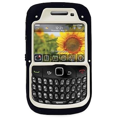 Exian – Étui protecteur blanc et rose pour BlackBerry Curve 8520