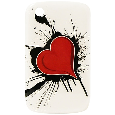 Exian Case for Blackberry Curve 8520, Heart on Ink