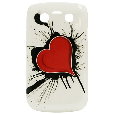 Exian Case for Blackberry Bold 9700, Heart on Ink