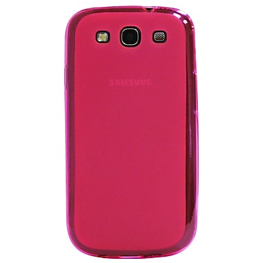 Exian Case for Galaxy S3, Transparent Frosted Pink