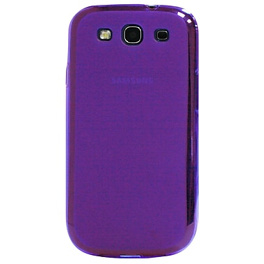 Exian Case for Galaxy S3, Transparent Frosted Purple