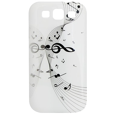 Exian Case for Galaxy S3, Musical Notes White