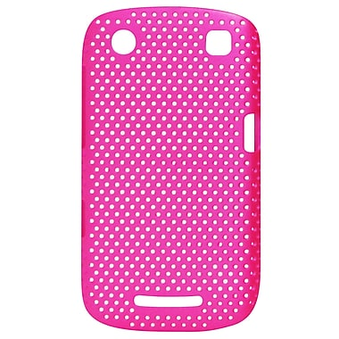 Exian Case for Blackberry Curve 9360, Net Pink