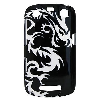 Exian – Étui pour BlackBerry Curve 9360 avec motif de silhouette de dragon