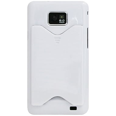 Exian Case for Galaxy S2 with Card Slot, White