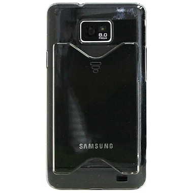 ExianMD – Étui avec fente à cartes pour Galaxy S2, transparent
